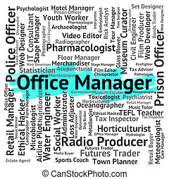 Office Manager Means Executive Supervisor And Text - Office...