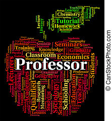 Professor Word Represents Lecturers Teacher And Professors -...