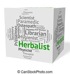 Herbalist Job Shows Herbs Work And Employee - Herbalist Job...