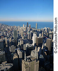 Chicago and Lake Michigan from the Willis Tower, 2013 - View...