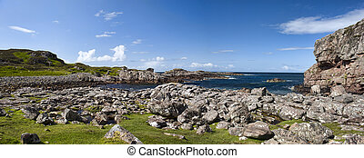 Rubha nan Sasan - The Beautiful and Rugged Coastline Looking...