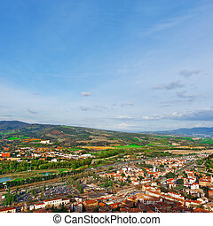 Orvieto - Aerial View to the Italian City of Orvieto from...