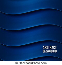 Abstract blue background with waves. Desgin template. Vector...