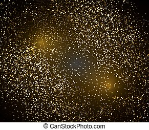 Abstract background with golden dot