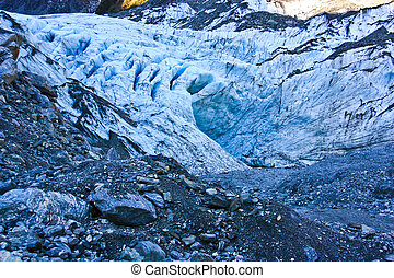 Fox glacier, New Zealand. - Fox glacier on New Zealand's...
