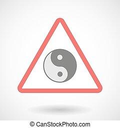 Warning signal with a ying yang