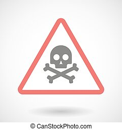 Warning signal with a skull