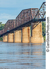vintage Mississippi River bridge - a detail of The Old Chain...
