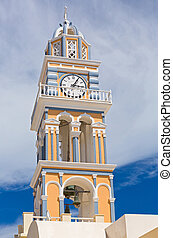 Santorini Church clock tower - Church clock tower Greece,...