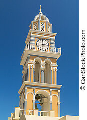 Roman Catholic cathedral in Fira, Santorini (Thira) - The Cyclades in Greece