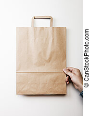 Mock up of paper bag - Mock up of blank craft paper bag...