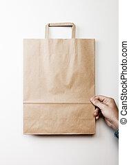 Mock up of paper bag - Mock up of blank craft paper bag...