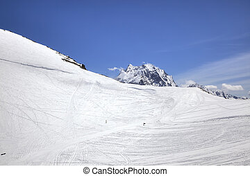 Dombay. Ski slope - Ideal skiing on the slopes of the...