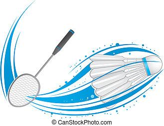 badminton - playing badminton.