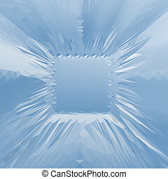 Abstract ice frame.