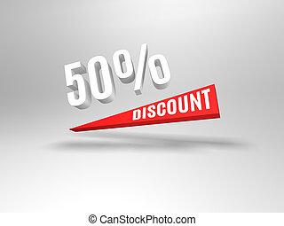 50 percent discount symbol. Sale symbol. Special offer...