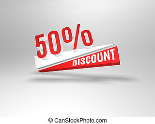 50 percent discount symbol Sale symbol Special offer label...