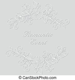 Flower vector ornament frame.