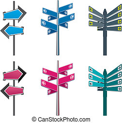 arrow sign - three version arrow signs