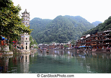 The scenery of Phoenix Town in China - The scenery of...