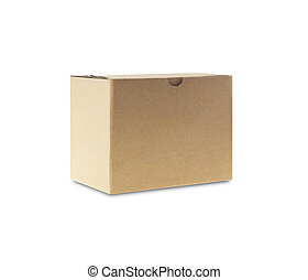 Cardboard box - Brown Cardboard box isolated on white...