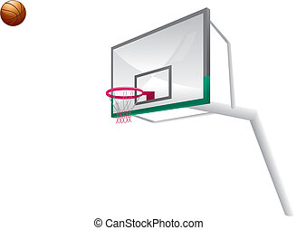 basketball with backboard