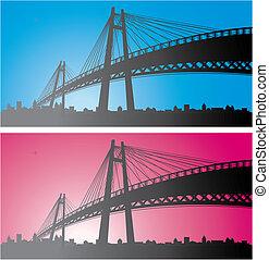 city bridge background.