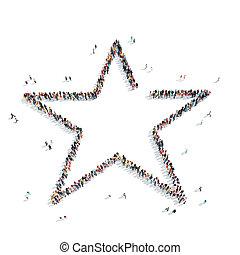 estrela, FORMA, Grupo, pessoas