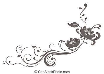 loto, flor, patrón