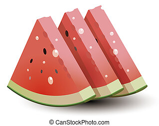Watermelon with water drop