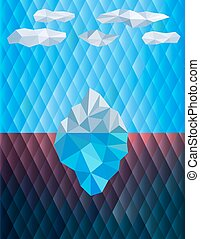 Iceberg - Polygon illustration of the iceberg in the water....