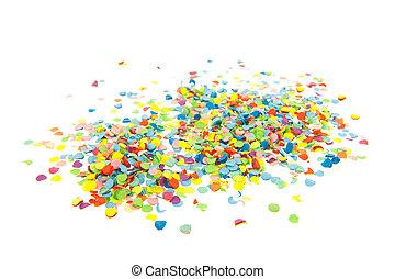 Colorful confetti - Colorful paper confetti isolated over...