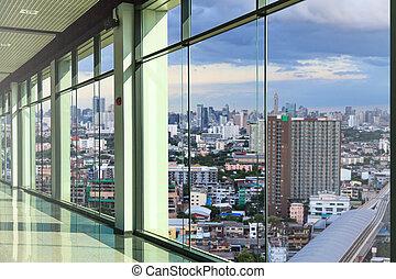 Windows in modern office