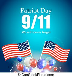 Patriot Day the 11/9 Label, We Will Never Forget Vector...