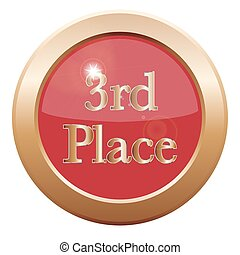3rd Place Icon - A 3rd place icon isolated on a white...