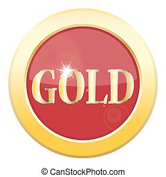 Gold Icon - A gold icon isolated on a white background