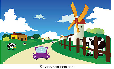 country road - a country road background