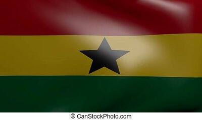 ghana strong wind flag