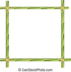 bamboo frame - Bamboo frame isolated on a white background....