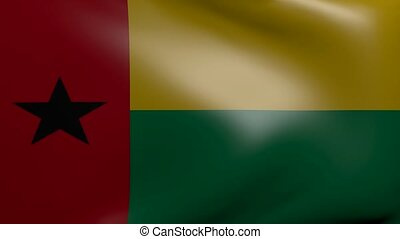 guinea bissau strong wind flag