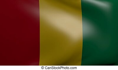 guinea strong wind flag