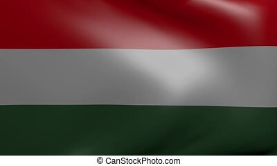 hungary strong wind flag