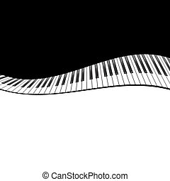 Piano template - Template with piano keyboard on black...