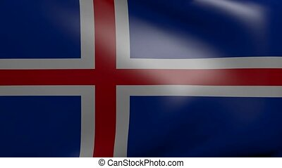 iceland strong wind flag
