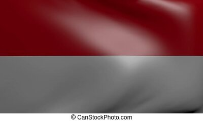 indonesia strong wind flag