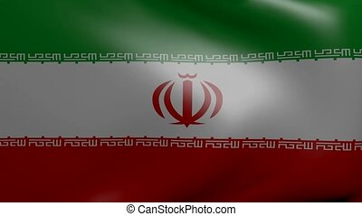 iran strong wind flag