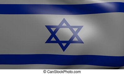 israel strong wind flag