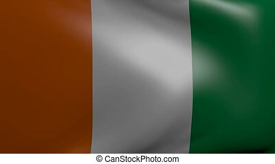 ivory coast strong wind flag