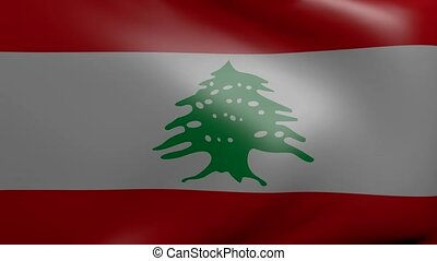 lebanon strong wind flag