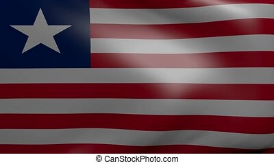 liberia strong wind flag